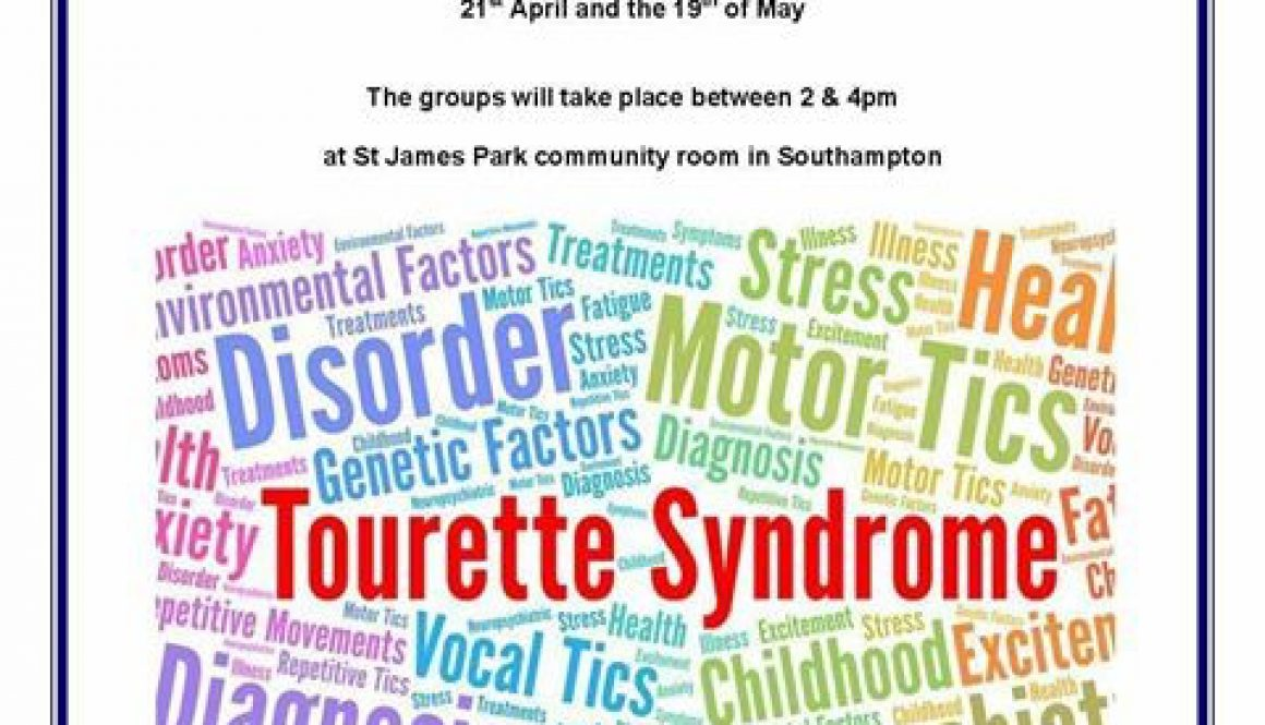Tourettes Syndrome SG 21st APR 19thMAY 1