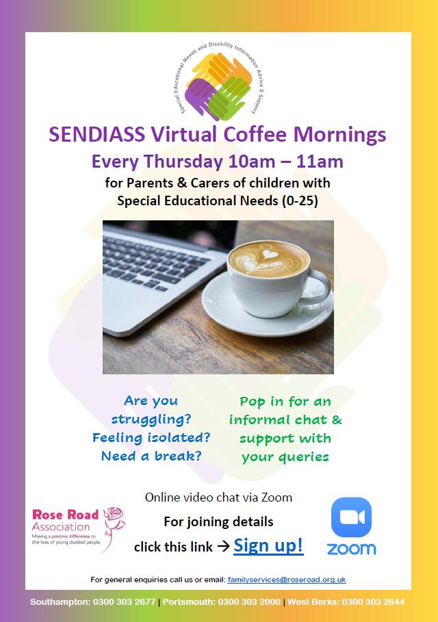 SENDIASS Coffee Mornings